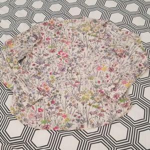 H&M Floral Garden Print Blouse